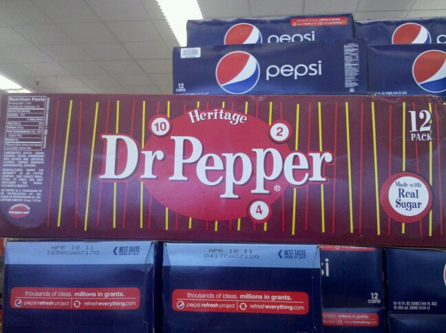 12-pack of Heritage Dr Pepper - Made with real sugar